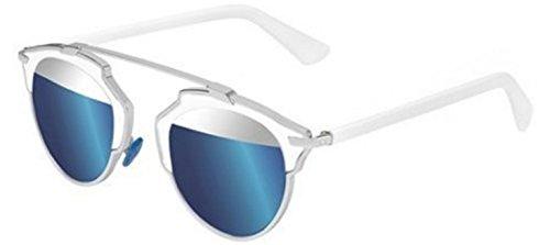 New Christian Dior SO REAL 18/7R palladium white/silver blue mirror - Real Dior Sunglasses So Silver