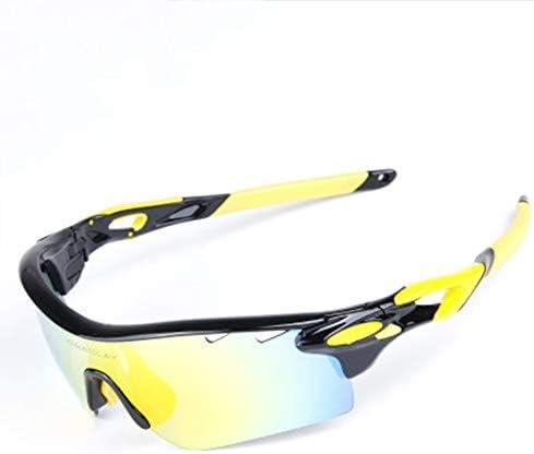 アウトドアスポーツ用、男性用、スポーツ用サンドイッチ偏光サングラス5本の交換レンズを備えた偏光サングラスで、サイクリング中に自転車用ゴーグルを運転できます