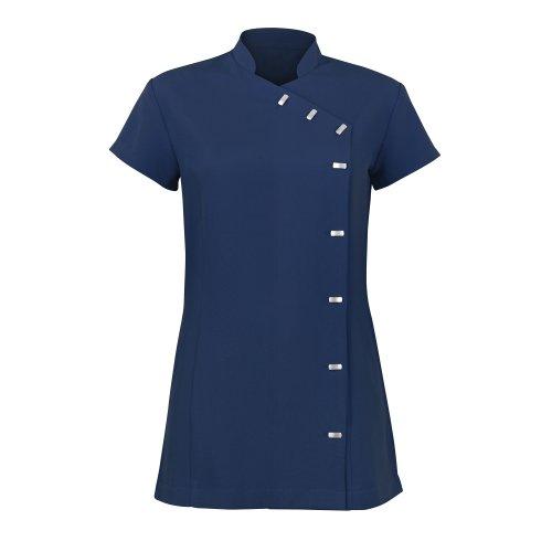 Alexandra - Túnica uniforme para salón de belleza / spa de cuidado fácil para mujer Rosa chillón