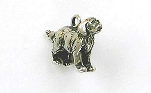 Pendant Jewelry Making/Chain Pendant/Bracelet Pendant Sterling Silver 3-D Golden Retriever Charm