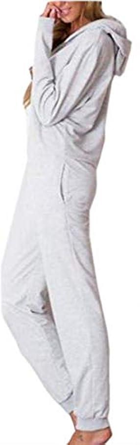 クリーム多用途ジムKeaac 女性のジャンプスーツリラックスパーカースウェットシャツスウェットパンツトラックスーツロンパースジャンプスーツ Grey X-Small