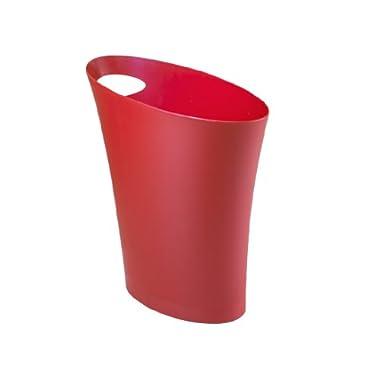 Umbra Skinny Polypropylene Waste Can, Red