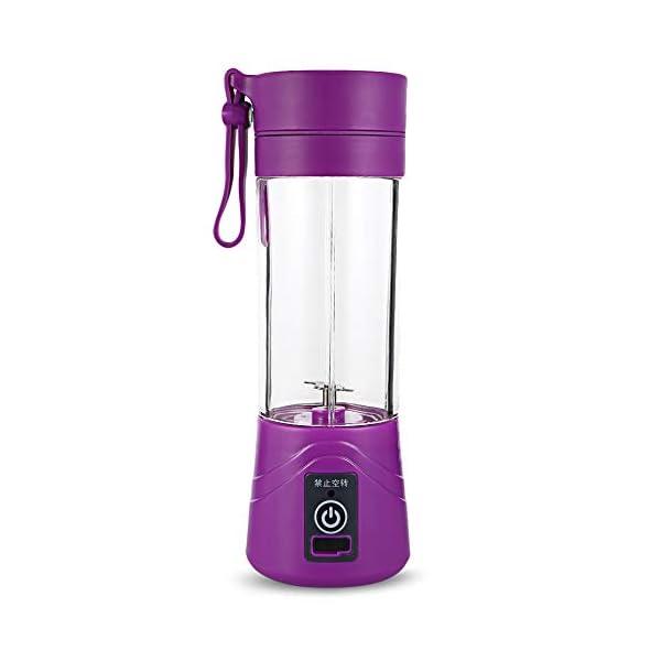Frullatore Portatile Miscelazione 380ml Frullato Di Plastica Scuote Blender Estrattore Modalità Usb Ricaricabile… 1 spesavip