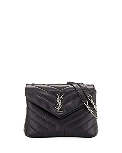 Saint Laurent Loulou Monogram YSL Small Chain Bag Made in Italy (Black) 543055497ada2