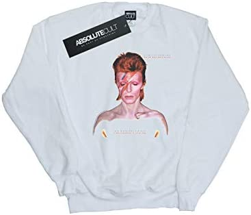 Absolute Cult David Bowie Damen Aladdin Sane Version Sweatshirt Weiß XX-Large
