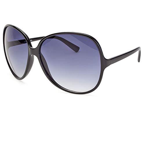 New Womens DG Sunglasses Fashion Retro Black Designer Vintage Shades Oversized p - Black Dg Oversized Designer Sunglasses