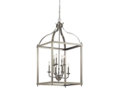 Kichler 42591NI Eight Light Foyer Chandelier Entry Lantern Foyer Lights
