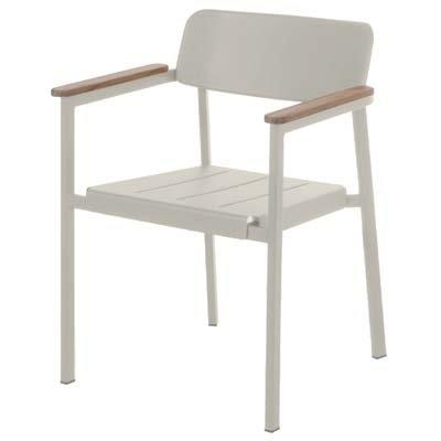 EMU Armlehnstuhl Shine Weiß (4-er Set)