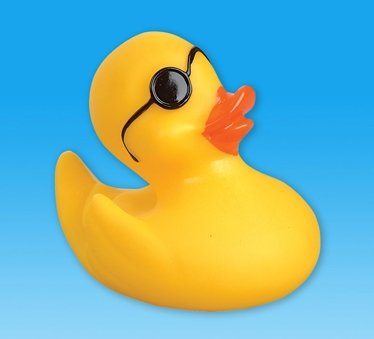 4 In. Rubber Floating Duck with Sunglass Pack of - Sunglasses Duck With