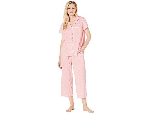 - Karen Neuburger Women's Short-Sleeve Floral Girlfriend Crop Pajama Set, Ditsy Conch Shell, Small