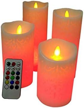 Led vlamloze Kaarsen Real Wax Flameless Color Changing Kaarsen met 18Key Timer Electronic LED Kunstmatige kaars lichtjes Battery Operated Kaarsen Outdoor Indoor feestelijke bruiloft decoratie