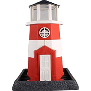 North States Village Collection Light House Birdfeeder- Red/White