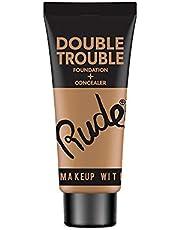 Rude Cosmetics Double Trouble Foundation Plus Concealer, Fair