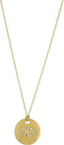 Roberto Coin 18k Yellow Gold Evil Eye Disc Pendant (/ 18k Roberto Coin Diamond Necklace)