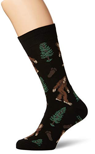 Socksmith Men's Socks Bigfoot Crew Black 1pair, one size (10-13)