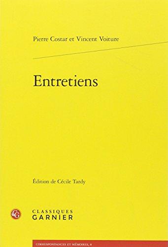 Entretiens (Correspondances Et Memoires) (French Edition)