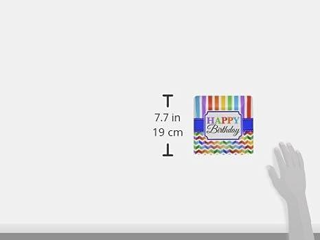 Square Plates Multi color Collection TradeMart Inc 96 Ct 541465 Birthday