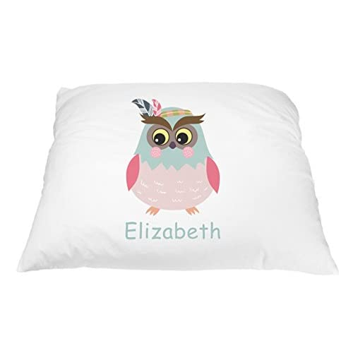 Personalized Owl Pillowcase Owl Pillow Cover Personalized