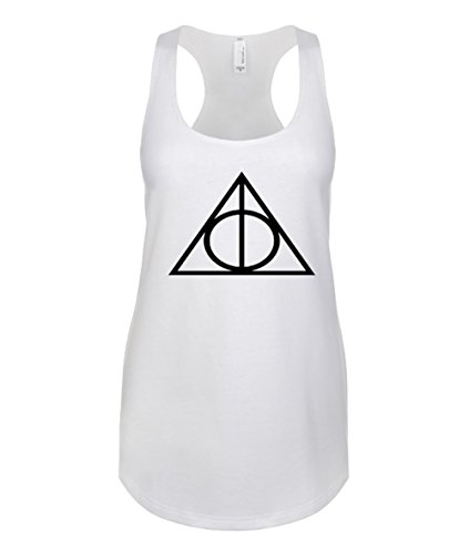 Harry Potter / Hogwarts / Quidditch / Lord Voldemort / Deathly Hallows Mujer Tanque Best Camisetas Sin Mangas Tank Top / SW40 Bianco