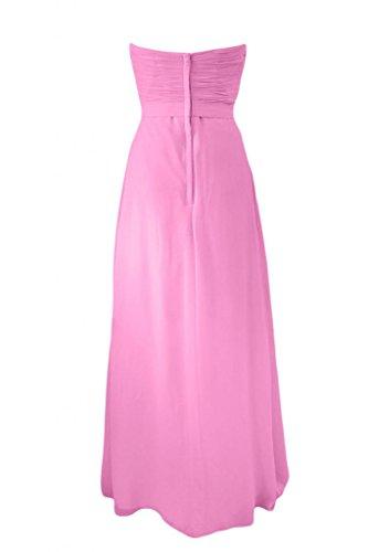 Sweetheart damigella Sunvary abiti da rosa A Charming d'onore sera pesca per Line abito Chiffon qwrS5prI