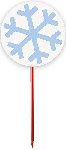Snowflake Holiday Cupcake Kit for 24 ()