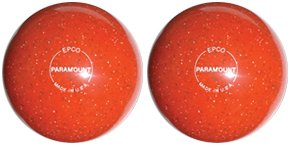 EPCO Candlepin Bowling ball- Speckled Houseball – オレンジ – 2 Balls B00H6VD0KI  4 1/2 inch- 2lbs. 6oz.