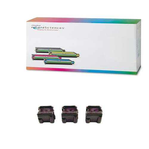 Media Sciences MSW8400M3 Magenta Solid Ink Sticks (3/PK-3400 Page Yield) - Compatible for Xerox 108R00606