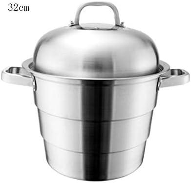 フードスチーマー 多層スチーマー 蒸し器 多層ステンレス蒸し器 強化ガラスカバー付き多層誘導ステンレススチールスチームオーブン 家庭用品スチ