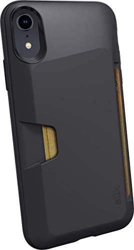 Silk iPhone XR Wallet Case - Wallet Slayer Vol. 1 [Slim + Protective] Credit Card Holder for Apple iPhone 10R - Black Tie Affair (Renewed)