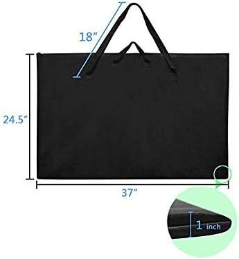 Large Size Art Portfolio Tote with Nylon Shoulder Poster Board Storage Bag 24X 36 Student Art Work Portfolio Case