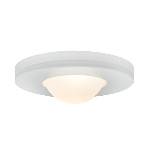 (JESCO Lighting PK503WH Straight-edged Slim Disk with Frosted Glass Lens)