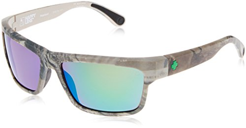 Spy Optic Frazier Happy Lens Wrap Sunglasses (Spy + Real Tree/Happy Bronze Polar w/Green - Realtree Spy Sunglasses