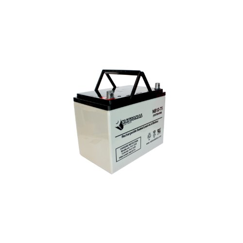 National Battery 12V 75Ah Premium AGM Sealed Lead Acid Battery NB12-75 by National Battery Corporation