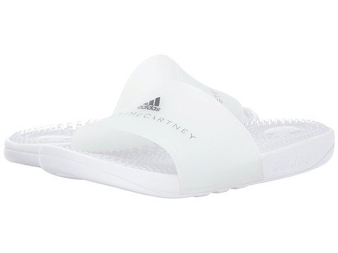 (アディダス) adidas レディースサンダル?靴 Adissage Footwear White/Footwear White/Grey Four F17 US Women's 8 n/a M [並行輸入品]