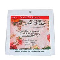 Nature's Alchemy Aromatherapy Herbal Mineral Baths Sports Relief - 1 oz (Bath Salt Scented Herbal)