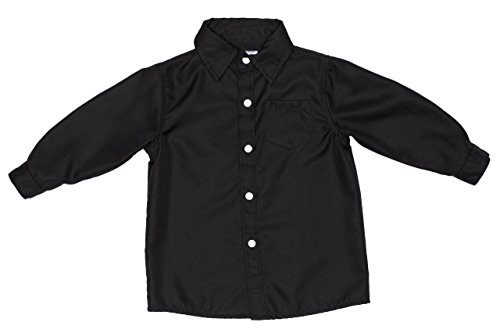 3t black long sleeve dress shirt - 6