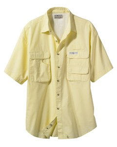 Hook & Tackle Mens Gulf Stream Short-Sleeve Fishing Shirt - WHITE - S