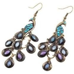 Beaute Galleria - Peacock Fashion Jewelry (Peacock Earrings)