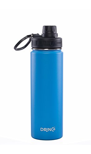 (Drinco - Stainless Steel Water Bottle | Double Wall Vacuum Insulated | Perfect for Traveling with Spout Lid | Blue | Perfect for Camping & Traveling | BPA Free | 18/8 Grade)
