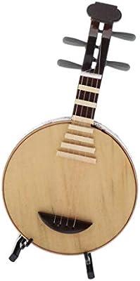 Amazon.es: SM SunniMix Laúd De De Madera 1: 6 con Soporte Y Estuche De Regalo, Instrumento Musical En Miniatura para La Decoración del Jardín De Hadas De La Casa De Muñ: Juguetes