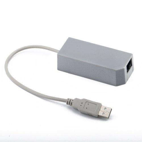 HDE (TM) Ethernet LAN Adapter for Nintendo Wii USB Port