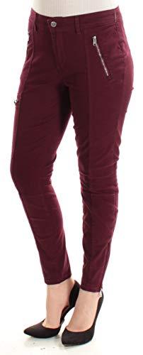 Ralph Lauren $100 Womens New 1563 Burgundy Zippered Casual Jeans 10 - Lauren Ralph Zippered