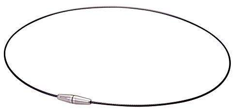 Phiten collar de alambre II circuito de titanio, Negro, 51 cm