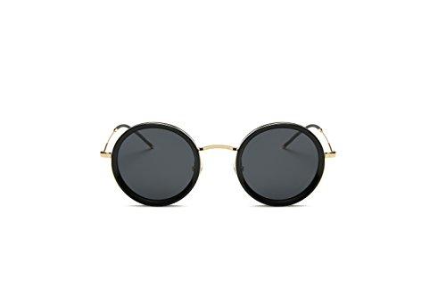 Weidan classic hippie fashion round box polarized sunglasses men and women 922 (Black frame / dark gray lenses, - Sunglasses What Style Are In 2018