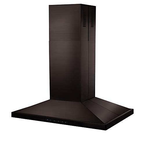 ZLINE 36 in. 760 CFM Island Mount Range Hood in Black Stainless Steel (BSGL2iN-36)