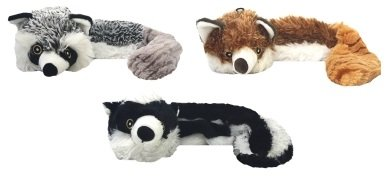 OBaa16144 Multipet Bouncy Burrow Buddies Assorted 3 Pack, 20 Inches Each