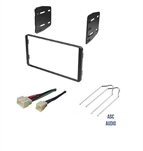 (ASC Car Stereo Radio Install Dash Kit, Wire Harness, and Radio Tool to Install a Double Din Aftermarket Radio for select Ford Lincoln Mazda Mercury Vehicles - Compatible Vehicles Listed)