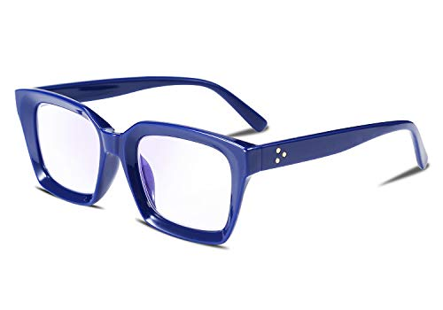 FEISEDY Retro Oprah Square Blue Light Blocking Reading Glasses Anti Glare Digital Eyestrain Reader B2479