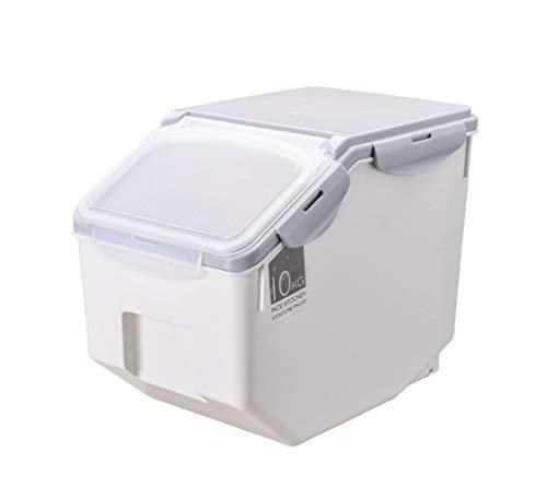 Kitchen household rice bucket 10kg plastic rice storage box, sealed pest control moisture-proof rice cylinder flour bucket 20 kg transparent