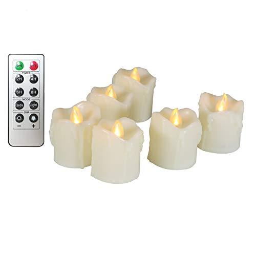 Vlamloze kaarsen, realistische en heldere flikkerende LED-theelichtjes, elektrische kaarsen op batterijen, 300 uur non…